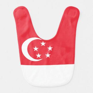 Babador Infantil Bandeira de Singapore