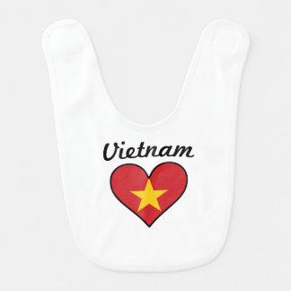 Babador Infantil Coração da bandeira de Vietnam