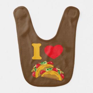 Babador Infantil Eu amo o Tacos