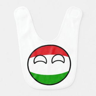 Babador Infantil Hungria Geeky de tensão engraçada Countryball