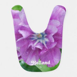 Babador Infantil Tulipas de florescência em Holland