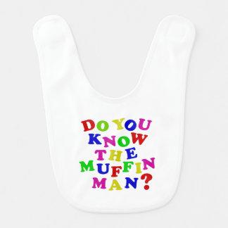 Babador Infantil Você conhece o homem de muffin?