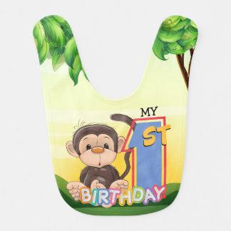 Babador Partido de primeiro aniversario do macaco