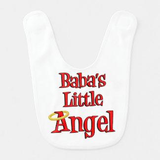 Babador pequeno do bebê do anjo do babá