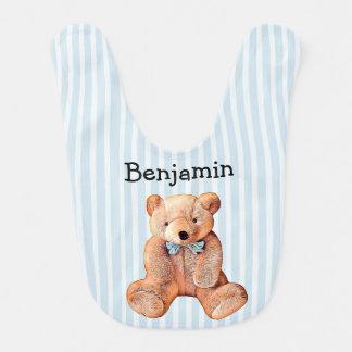 Babador personalizado do urso de ursinho com nome