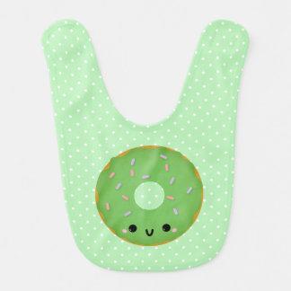 Babador verde de sorriso bonito do bebê da