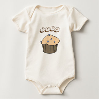 Babadores Bodysuit orgânico do bebê do muffin bonito do