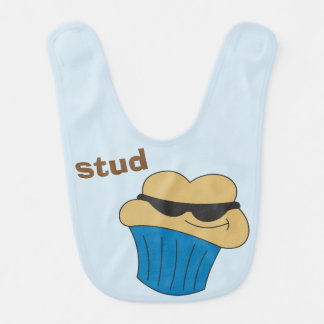 Babadores personalizados muffin do bebê do