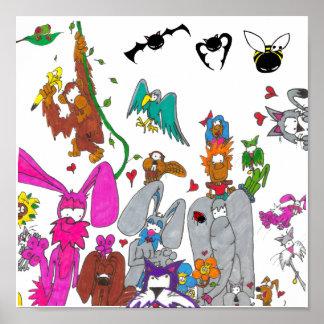 Babaloo animal poster