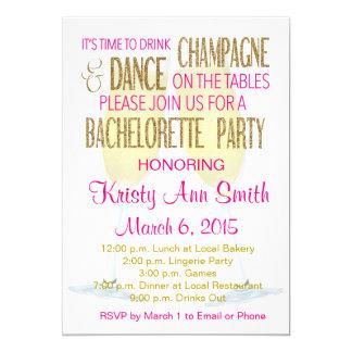 Bachelorette ou convite de festas das galinhas