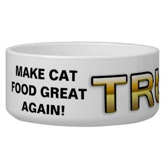 Bacia 2016 dourada do gato do patriota do trunfo tijelas para comida de cachorros
