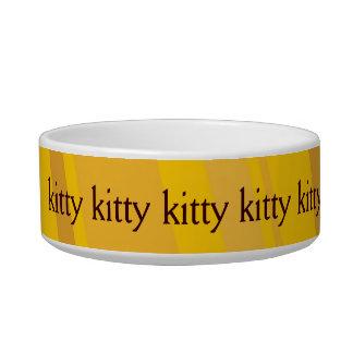 Bacia amarela do catfood do design tijelas para gatos