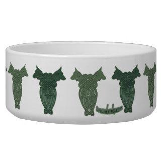 Bacia celta do cão da arte tijelas para água para cachorros