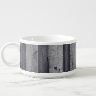 Bacia de madeira cinzenta do pimentão da cerca tigela de sopa
