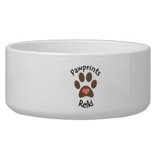 Bacia do animal de estimação de Pawprints Reiki Tijela Para Água Para Cachorros