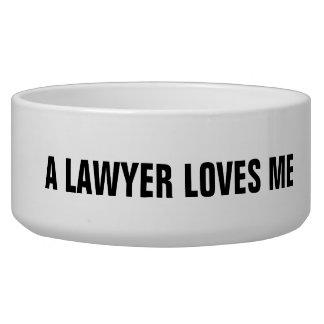 Bacia do animal de estimação do advogado: Um Tijela Para Água Para Cachorros