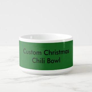 Bacia feita sob encomenda do pimentão do Natal Chili Bowl