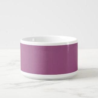 Bacia roxa malva do pimentão tigela de sopa