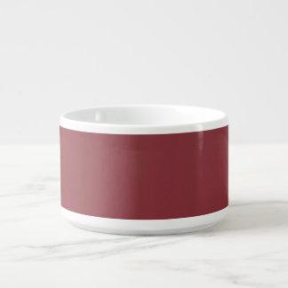 Bacia vermelha do pimentão do suco de fruta mixa chili bowl