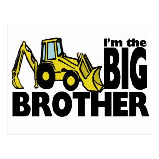 Backhoe do big brother cartão postal