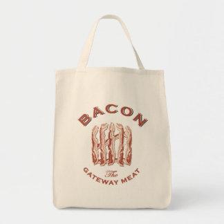 Bacon o saco do mercado de carne da entrada bolsa tote