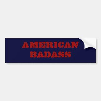 badass americanos adesivo para carro