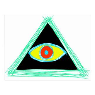 Badass Illuminati Cartão Postal