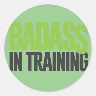 Badass no treinamento adesivo