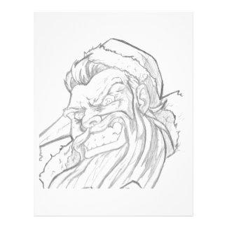 Badass Papai Noel com um sorriso mau Papel Timbrado