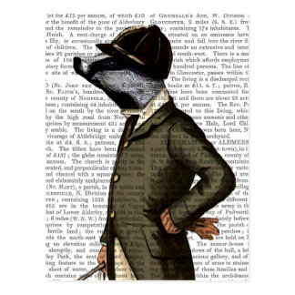 Badger o retrato do cavaleiro cartão postal