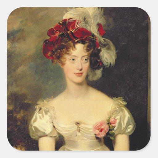 Baga de Marie-Caroline de Bourbon Duchesse de Adesivo Quadrado