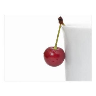Baga vermelha da cereja cartão postal