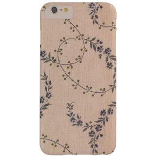 Bagas roxas do ouro das videiras da flor da capas iPhone 6 plus barely there