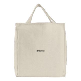 Bagasdf bordado costume bolsa de lona