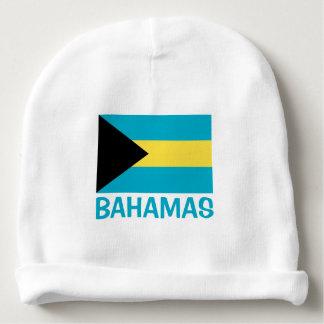 Bahamas embandeiram o texto azul customizável gorro para bebê