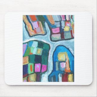 Baía celular colorida (expressionism abstrato) mousepad