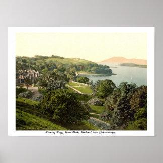 Baía de Bantry, cortiça, impressão do século XIX d