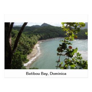 Baía de Batibou Dominica Cartoes Postais