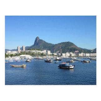 Baía de Guanabara em Rio de Janeiro Cartão Postal