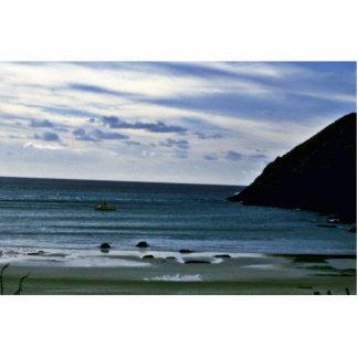 Baía dos espírito, cabo norte, ilha norte esculturafotos