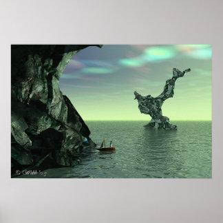 Baía mineral na angra esmeralda poster
