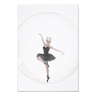 Bailarina 1 da bolha convite 8.89 x 12.7cm