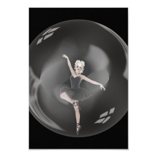 Bailarina 1 da bolha convite personalizado