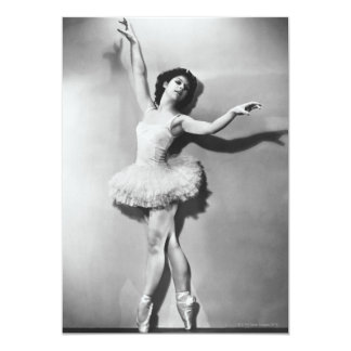Bailarina 2 convite 12.7 x 17.78cm