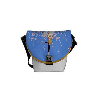 Bailarina, a mini bolsa mensageiro das flores de c