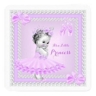 Bailarina bonito do Lilac da menina da princesa Convite Quadrado 13.35 X 13.35cm