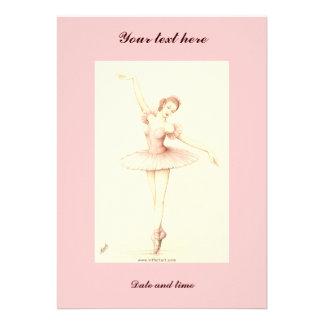 Bailarina Convite Personalizados