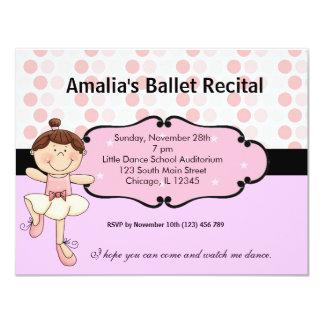 Bailarina Convite 10.79 X 13.97cm