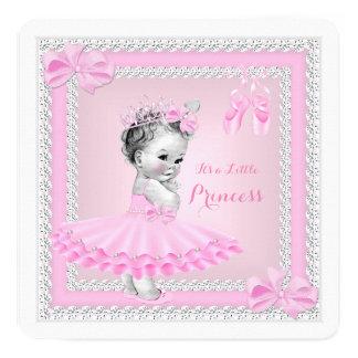 Bailarina cor-de-rosa bonito da menina da princesa