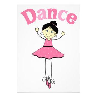 Bailarina da dança convite personalizado